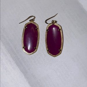 Purple Elle Kendra Scott earrings
